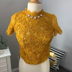 Zara// lace blouse size small
